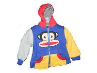 Children Monkey Hoodies Top Or Cartoon Coat 2 zip 3 pocket