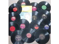 Sixteen x 10 inch records, ideal for craft project