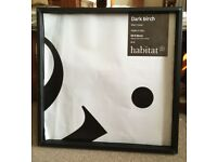 DARK BIRCH BLACK PICTURE FRAME OF HABITAT 50*50CM Made in Italy £5.00