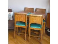 Mid-century 50's extending dining table & 4 chairs
