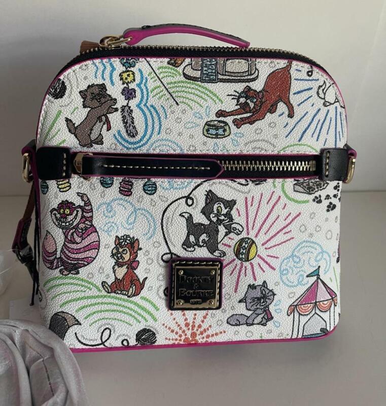 Disney Dooney & Bourke Cats Sketch  Crossbody Handbag NWT This Placement