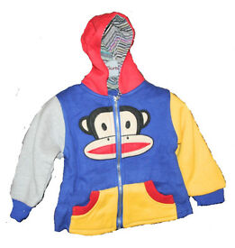 Children Monkey Hoodies Top Or Cartoon Coat 2 zip 3 pocket
