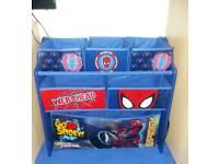 Spider-Man storage + book case