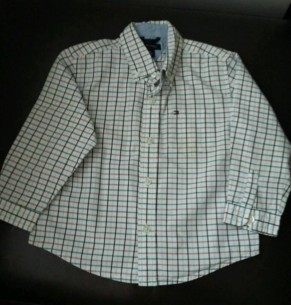 Tommy Hillfiger boys long sleeved shirt age 24 mths