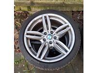 """GENUINE BMW F10 5 6 SERIES 19"""" 351 M SPORT 5 DOUBLE SPOKE ALLOY WHEELS"""