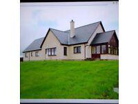 5 Bedroom detached home unfinished. Rural location Inverness 25 minutes