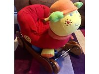 Caterpillar sit stand ride on musical toy