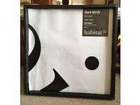 DARK BIRCH BLACK PICTURE FRAME OF HABITAT 50*50CM Made in Italy £6.00
