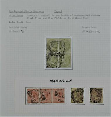 JAMAICA  STAMPS  WHITE HOUSE AND MANDEVILLE  CANCELS   (A63)