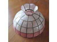 EXTRA LARGE 14.5 iNCH 1980's RETRO CAPIZ SHELL LAMP SHADE