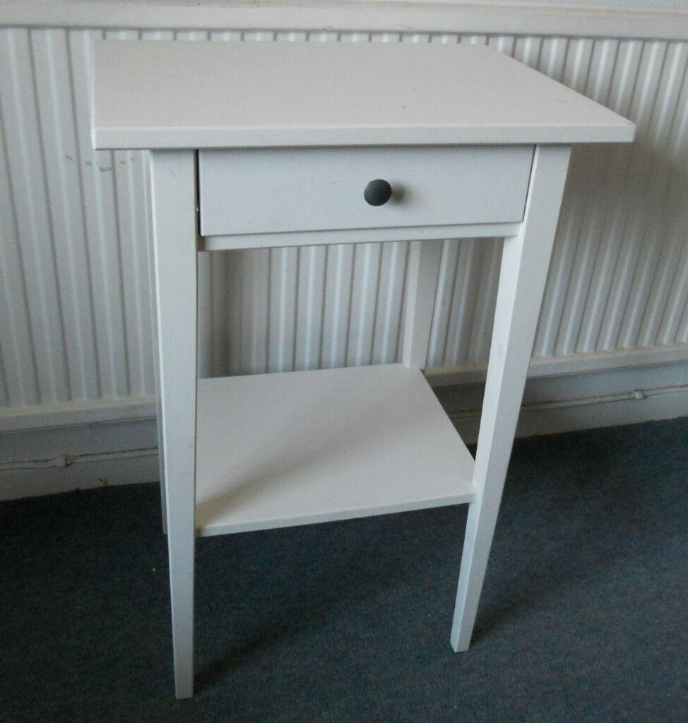 White Side Table or Bedside Table - Ikea Hemnes   in Llanishen ...