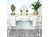 Stunning Vintage White Hand Painted Unique Sideboard lace | French inspired | Rustic | Shabby Chic