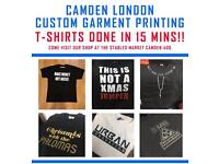 T-shirt printing Camden London