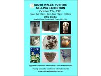 South Wales Potters Selling Exhibition of 28 potters' work - tableware, sculpture, wall hangings