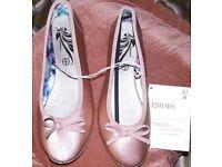 Esmara Ballerina Pumps UK 4 Bronze Brand New