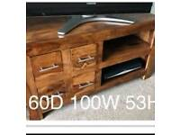Solid mango wood t.v unit and sideboard