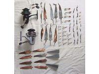 Various bits of fishing tackle