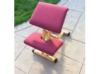Swedish backache prevention chair