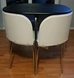 Brand new dining table with cream chairs