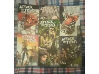 Attack on Titan manga - Volumes 1 to 7