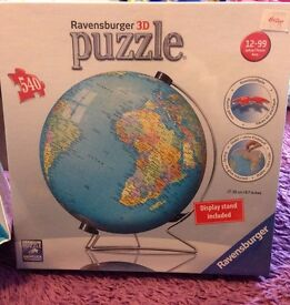 Ravensburger 3D jigsaw puzzle: The World on V-Stand Globe, 540pc.