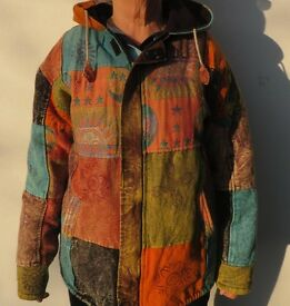 Ladies winter coat, medium, warm fleece lined. Good condition