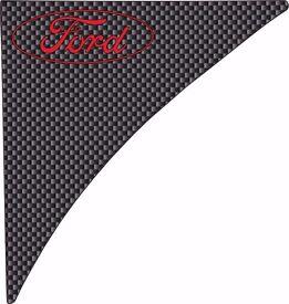 fiesta zetec- zetec s - st mk7 - mk7.5 red ford on carbon fibre side gel wing vents badges 2009-up