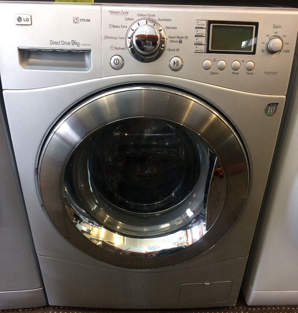 lg direct drive 9kg washing machine steam latest model free delivery and warranty