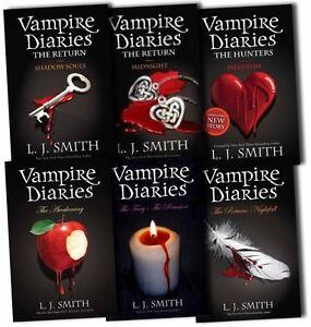 Vampire Diaries Collection L J Smith 6 Books Set 1 - 8 Pack Midnight, Phantom