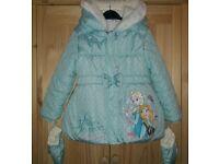Girls Frozen Elsa & Anna Coat, Age 4-5 Years / Yrs