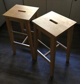 IKEA Solid Wood Breakfast Bar Stools