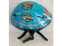 DIGIMON CHILDS KIDS SAFETY HELMET Size MEDIUM 54-58cm for Bikes Skates Scooters Skateboards etc