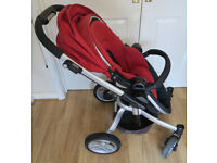 Graco Symbio 3 in 1 Travel System. RED. Pushchair | Carrycot | Car Seat | Isofix Base | Cozy Toes.