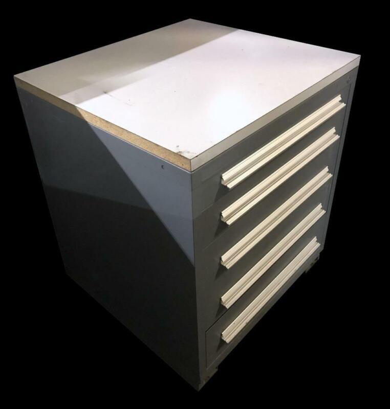 "Stanley Vidmar 5 Drawer Industrial Tool Cabinet 30"" X 27.5"" X 44"""