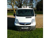 2011 Vauxhall Vivaro Refrigerated Van. Hubbard Refidgeration Unit. FSH