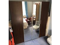 Wardrobe/bedside table/tall chest of drawer set - reduced
