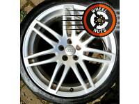 "18"" Genuine 5x100 Audi RS4 A1 VW Polo alloys excel cond match tyres."