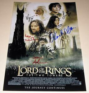 LORD OF THE RINGS ROTK CASTx8 PP SIGNED 12