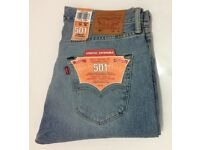 Genuine Levis 501 Straight Leg Men's Jeans W34X30L NEW