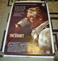 1983 PAUL NEWMAN THE VERDICT VHS EARLY VIDEO POSTER
