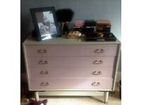 1950s GPlan bedroom chest of drawers & side unit