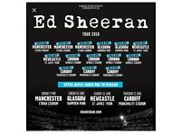 Ed sheeran, manchester SAT 25th, Standing, face value
