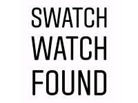 Found: Ladies Swatch watch in woods off Longmoor Lane near Mortimer, found 3/5/18. West Berkshire