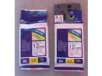 2x Genuine Brother TZE-231 Black on White Tape Cassette 12mm 8M Label P-Touch Genuine TZE-231 .