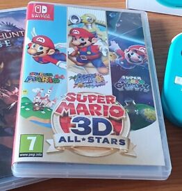 Nintendo Switch Super Mario 3D All stars game Like New