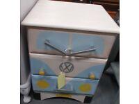 Bedside drawers upcycled to Campervan design 32991B £35