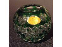 Crystal flower ball vase.