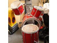 Set of Four Drums & Stool