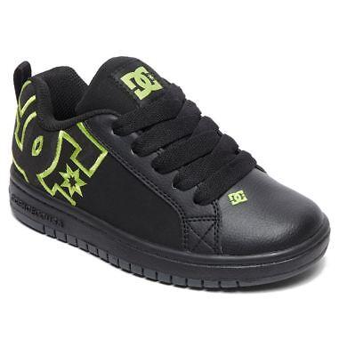 Scarpe Ragazzo Skate DC Shoes Court Graffik SE Nero Black Lime 2019 Schuhe - Dc Court Graffik Se Schuh