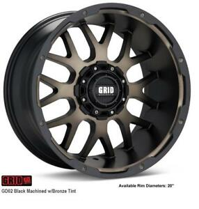 Grid off-road wheels  GD02 (Black Machined with Bronze Tint)
